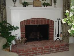 raised hearth brick arts craft custom mantel traditional family room