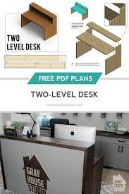 two level desk diy