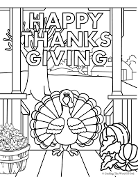 Happy Thanksgiving 4 Coloring Page Crafting The Word Of God