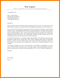 12 Truck Driver Application Letter Xavierax