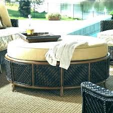 outdoor ottoman cushion patio wicker round cushions