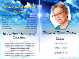 Funeral Templates Free Custom Free Funeral Program Templates For Microsoft Word Funeral Programs