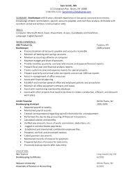 cover letter resume for bookkeeper job description resume examples sample bookkeeping objectivebookkeeper resume extra medium size sample resume for bookkeeper