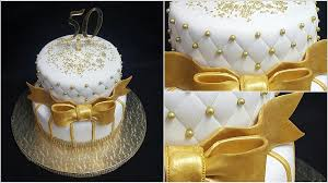 Gold And White Cake Creative Hands