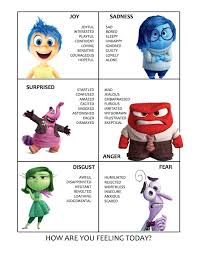 Inside Out Feelings Chart Printable I Dont Know About You But My Kids Love The Disney Pixar
