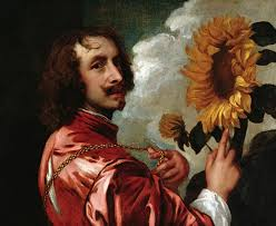 self portrait with a sunflower 1641