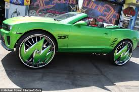 Wheely Big Green Camaro Has Inch Rims