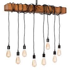 farmhouse style light fixture wrapped wood beam antique decor chandelier pendant lighting vintage kitchen bar industrial island billiard and edison