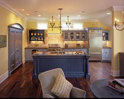 Blue and Yellow Kitchen traditional-kitchen