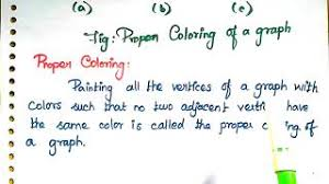 It is often desirable to minimize the number of colors, i.e. 27 Chromatic Number Proper Coloring In Graph Theory With Example Welcome Engineers Youtube