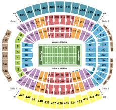 Jacksonville Jaguars 3d Seating Chart Tiaa Bank Field Seating Chart Section Row Seat Number Info