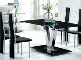 black glass dining table set dining tables marvelous black glass table design ideas astonishing rectangle modern black glass dining table