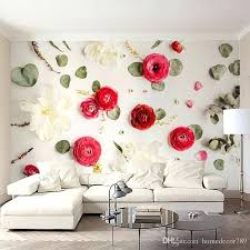bedroom wall painting custom photo wall paper creative art wall painting romantic rose flowers bedroom bedside bedroom wall painting