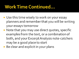 writing an analysis essay planning the essay  opening  entry  6  use this time wisely to work on your essay