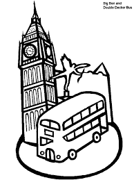 Small Picture Collection of Landmarks Around The World Coloring Pages A