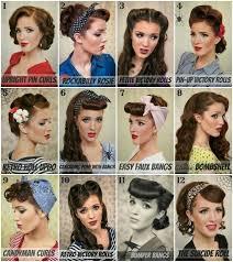 Vintage Pin Up Hairstyle Výtvarné Umění Pelo Retro Peinados De