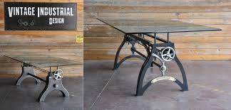 vintage industrial furniture tables design. fine tables cranktablesbyvintageindustrial inside vintage industrial furniture tables design
