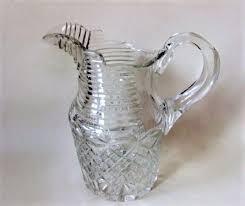a stunning georgian revival cut water jug