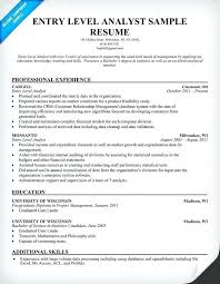 Financial Analyst Resume Objective Entry Level Financial Analyst Resume Sample Finance Business 73