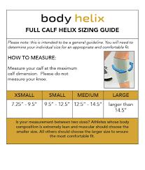 Calf Size Chart Full Calf Size Chart Body Helix