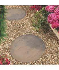 bradstone round brown blend stepping stone