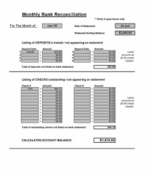 excel reconciliation template bank reconciliation spreadsheet microsoft excel