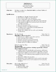 Early Childhood Educator Resume Sample Education Samplesr