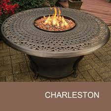 agio charleston 48 inch round cast top gas fire pit table com