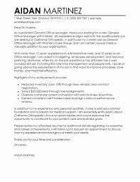 Example Of Executive Cover Letters Resume Templates Office Job Coverer Examples Management Sample Front