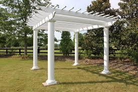 fiberglass pergola round columns zoom