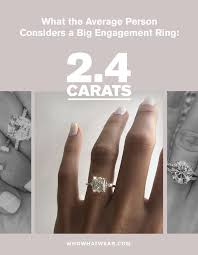 Engagement Ring Diamond Size Chart This Is The Average Carat Size For An Engagement Ring Who