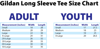 Youth Pants Size Chart Gildan Adult Size Chart Clipart T Shirt Youth Clothing Sizes
