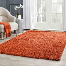 super soft plain gy orange rugs