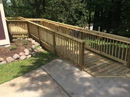 Wheelchair Ramps Wood Metal Concrete Landscaping Bridgeway