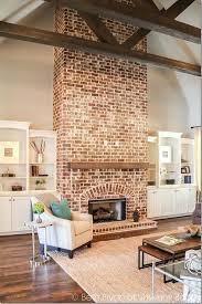 red brick fireplace mantel decor