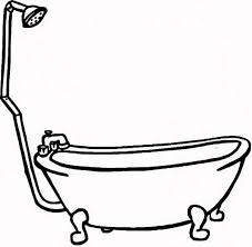 drawing tub coloring pages bathtub color bros