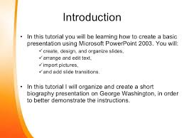 powerpoint biography how to create a basic power point presentation