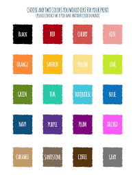 Wedding Anniversary Color Chart Wedding Prints Foto Creations By M