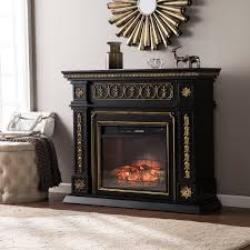 47 donovan electric fireplace black
