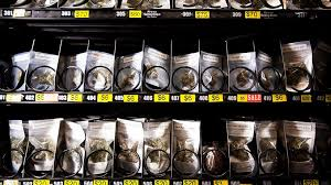 Vancouver Vending Machine Extraordinary Marijuana Is Pictured In A Vending Machine At The BC Pain Society In