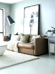 brown sofa living room paint ideas leather decor what color rug goes with a couch rugs