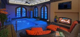 residential indoor lap pool.