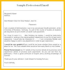 Business Letter Template Via Email Sample Of Professional