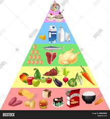 Food Pyramid Chart Image Photo Free Trial Bigstock