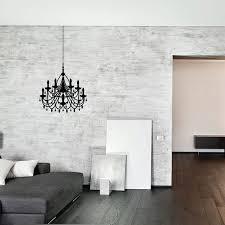 wall decal diamond chandelier black