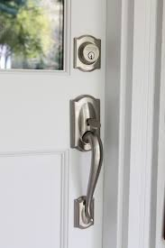 front door hardware brushed nickel. When We Moved Into Our Home, Mailbox Was In The Garage At Side Of Home. Some Mail Carriers Knew It, But Didn\u0027t. Often Went Days Without Front Door Hardware Brushed Nickel O