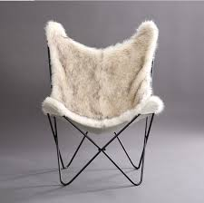 byram erfly faux fur cover lounge chair
