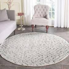 adirondack ivory charcoal 6 ft x 6 ft round area rug