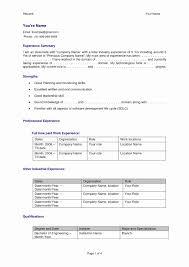 Software Developer Resume Format Lovely Colorful Best Resume Format
