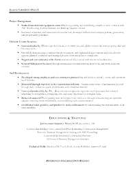 construction management resume  resume sample format